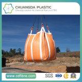 4 boucles ont entièrement ceinturé 0.5-3mt le grand sac orange de l'éléphant FIBC
