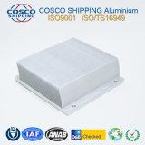 Excelente perfil de disipador térmico de aluminio anodizado plata y mecanizado