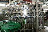 キャッピングの機械装置を満たすガラスによってびん詰めにされるビールアルミニウム帽子