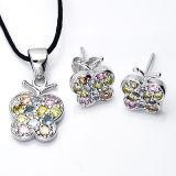 Reeksen Van uitstekende kwaliteit van CZ van de Juwelen van de manier de 925 Zilveren Veelkleurige met Geplateerd Zilver
