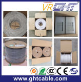 4X0.4mmcca, 0.8mmpe, cabo interno cinzento do PVC UTP Cat5e de 5.0mm