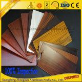 La Chine Fabricant du grain du bois profil aluminium extrudé