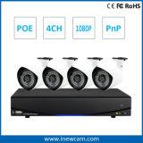 4CHはIR Poe CCTVの機密保護IPのカメラNVRキットを防水する