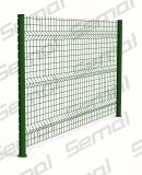El polvo cubrió la cerca 3D curvo Malla de alambre soldado Jardín