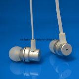 Musique professionnelle petit métal filaire écouteur stéréo avec câble plat