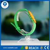 Wristband astuto impermeabile del silicone RFID di 13.56MHz MIFARE 1k