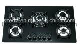 8mmの厚さの黒の緩和されたガラスのパネルのガスの歯切り工具の家庭電化製品(JZS4508)