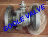 Vávula de bola partida dirigida por engranaje del acceso estándar de la carrocería del acero de molde (116)