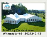 組合せは販売のイベントの党そして結婚式のための大きい最も高いピークのテントを構成する