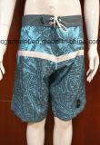 Beachwear do Swimwear das calças de Shorts da praia da ressaca da cópia do poliéster para homens