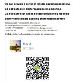 Жара PVC - машина упаковки Papercard запечатывания