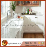 Твердой отполированный поверхностью сверкная белый Countertop кварца для кухни и ванной комнаты