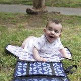 Sacchetto cambiante del rilievo del pannolino pieghevole impermeabile del bambino