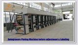 Machine d'impression électronique à grande vitesse de rotogravure d'axe (DLYA-131250D)