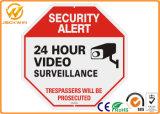 Алюминий сигнала тревога обеспеченностью CCTV 24 видео- часа знака наблюдения