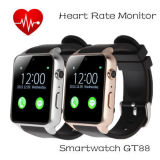Novo Gt88 GSM SIM Card Bluetooth Sports Smart Watch com monitor de freqüência cardíaca da câmera NFC Smartwatch para Android e Ios