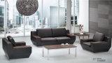 Sofá secional do escritório preto elegante com pé de aço