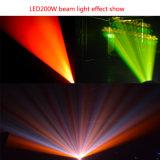LED 200W Déplacement du faisceau éclairage de scène de phare