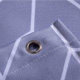 Tecido de poliéster Anti-Mildew impermeável de verificações de banho cortina do chuveiro (03S0006)