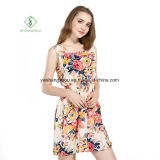 2017 Fashion шифон напечатано пляжа Платья Sexy платья Maxi на заводе