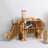 장난감 장식적인 나무로 되는 코뿔소 측 테이블을 조립하십시오