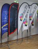 カスタム印刷を用いる昇進の積集合浜の羽の旗のフラグ