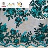 女性の衣服および除草のための緑のレースファブリック刺繍。 C10028