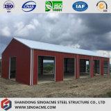 Portalrahmen-Stahlgebäude für Lager/Stall