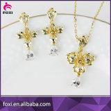 卸し売り女の子のためにセットされる工場価格の実質の金によってめっきされる宝石類