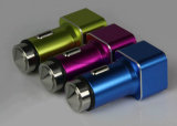 Алюминиевый Multi заряжатель 5V 3.1A автомобиля USB Port