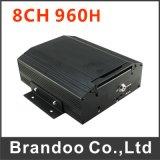 Автомобиль DVR 8 каналов, поддержка 3G+GPS, используемая для школьного автобуса, поезд, тележка, используемая шина челнока