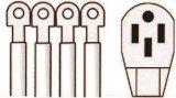 cabo da escala de 4-Wire 50A, cabo de potência 06-Ggpt62820