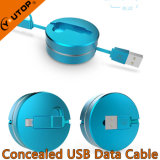 Novo Dois em um cabo de carregamento USB para celular e iPad