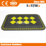 Het zwarte & Gele Draagbare RubberKussen van de Snelheid van de Verkeersveiligheid