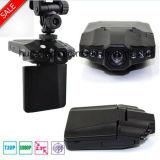 """Gravador de vídeo Rotable DVR de barato 2.4 """" Digitas da câmera do carro da caixa negra do carro da tela com um ângulo de 120 graus, diodo emissor de luz DVR-2441 da câmara de vídeo do traço da visão noturna 6PCS"""
