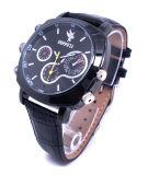 Mann-Uhren CMOS-1080P mit HD Kamera unterstützt Nocken der Sprachaufnahme-Armbanduhr-DVR