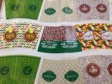기계를 인쇄하는 4개의 색깔 종이 봉지