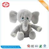Weird yeux assis en peluche animal éléphant Peluche personnalisé