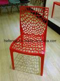 Nuevo diseño de silla de plástico de ocio de la Base de malla Silla apilable