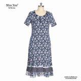 Alineada maxi floral de las muchachas de Srta. You Ailinna 304838 con el cordón blanco
