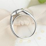 Anello di cerimonia nuziale d'argento di aggancio di Zirconia 925 cubici liberi di Wowen