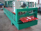 De verglaasde die Tegel van het Dakwerk walst het Vormen van Machine koud in China wordt gemaakt