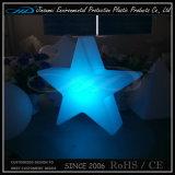 PE 플라스틱 작은 색깔 변경 LED 장식적인 별 램프