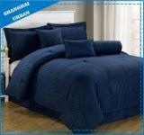 7PCS Dobby Stripe Hotel Poliéster Consolador Ropa de cama