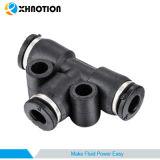 Pneumatisches Verbindungsstück-T-Stück Drücken-zu-Schließen Adapter-Rohranschluß an