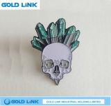 Divisa de encargo del metal del Pin de metal del Pin de la manera de la solapa de encargo del paño