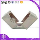 Rectángulo de empaquetado negro de lujo de la hoja de oro de papel para el perfume