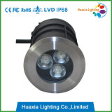 Mini indicatore luminoso Unground chiaro di 3W LED Inground IP68 LED