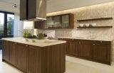 最新の様式は技術デザイン小さいガラス台所家具を複雑にした
