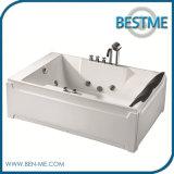 Tina de baño de acrílico del Jacuzzi del masaje libre del torbellino para la bañera de 2 personas (BT-A1013)